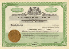 Clearfield Supply Clymer Pennsylvania stock certificate