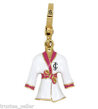 New Juicy Couture White Pink Spar Couture Robe Charm for Bracelet Bag Phone