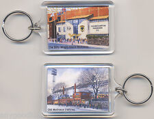 WOLVERHAMPTON WANDERERS WOLVES OLD & NEW MOLINEUX GROUNDS 2 SIDED KEYRING