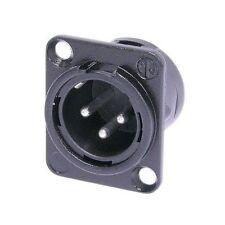 Neutrik NC3MD-L-BAG-1 Male XLR Panel Mount Black/Silver 1110