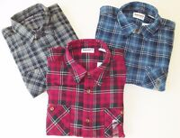 Timberland Men's Heavyweight Flannel Shirt Gray / Blue / Red  Style A1Q4R