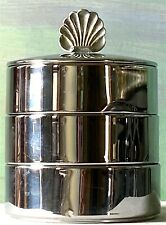 Vintage Chase Chrome Art Deco Machine Age Tiered Box Shell Finial