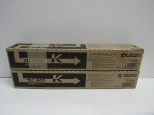 LOT OF 2! GENUINE KYOCERA TK-897K (1T02K00US0) TONER KIT