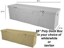 "86"" Poly Boat Dock Deck Pool Outdoor Patio Storage Box"