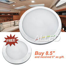 12V LED Dome Roof Ceiling Interior Light Cool White Caravan/Car/RV Lamp Silver