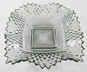 VTG Dish Ashtray Bon Bon Federal Glass Traditions Smoky Black Carnival Ruffled