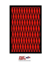 "HYDRO TURF Traction Mat Roll - Cut Diamond - Black/Red 37"" x 58"" - No Adhesive"