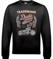 Trademark Death Race - Uomo Biker Felpa Moto Indian Motorcycle