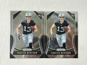 HUNTER RENFROW LOT OF 2 2019 Panini Prizm BASE RC's #357! CHECK MY ITEMS! INVEST