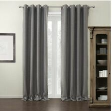 """NEW Set of 2 Modern Gray Thermal Black Out Curtains. Panels Are 72"""" W X 102"""" L"""