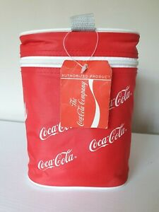 Retro Coca Cola Red Zip-Up Cool Bag 1990s Coke With Tags And Handle Vintage