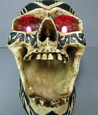 New Motion Detector Black & Bone Color Skull Ashtray Red Flashing Eyes Skulls
