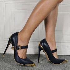 Women Pointy Toes High Heels Buckle Strap Clubwear Sexy Stilettos Fashion Shoes