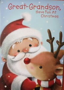 GREAT GRANDSON HAVE FUN AT CHRISTMAS  - GREAT GRANDSON CHRISTMAS CARD