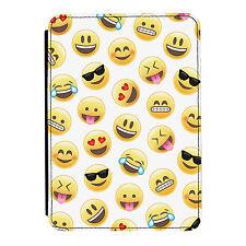 Emoji Patrón Cara Sonriente Diversión Kindle Paperwhite Toque PU Piel Flip Funda