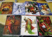BEAUTIFUL YULE CARDS BY THE ARTISTS ANN STOKES AND BRIAR FREE PP UK ONLY