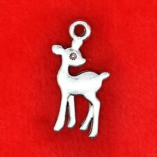 8 x Tibetan Silver Lovely Deer Bambi Charm Pendant Jewelry Making Craft