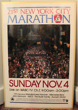 Vintage 21st New York City Marathon Poster With Psych Team Tags