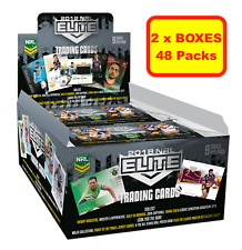 2x 2018 RUGBY LEAGUE NRL ELITE Trading Cards, Sealed Boxes 48 Packs Express Post