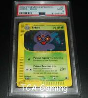 PSA 9 MINT Arbok 3/165 Expedition Base Set HOLO RARE Pokemon Card