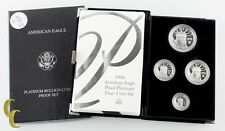 1998-w PLATINO American Eagle Prueba four-coin Juego 1.85 oz. Con / Casa De