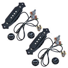 2sets Pre-Wired 4-String Electric Cigar Box Guitar Pickup with Volume & Tone