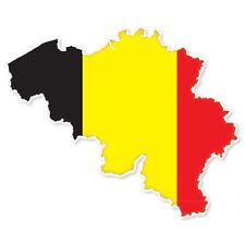 """BELGIUM Map Flag bumper sticker decal 4"""" x 4"""""""