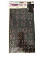 Horizon Transfermations Iron-on Multi-Colored Rhinestone Letters