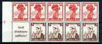 Germany - Third Reich 1935 Welfare Fund 3pf and 12pf booklet pane MNH/MH