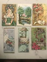 6 Vintage Famous Artists Studios Beautiful Greeting Cards Get Well Wishes