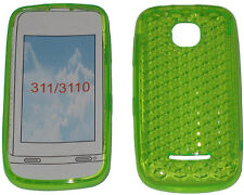 Per Nokia Asha 311 / 3110 modello Soft Gel Custodia Cover Protettore Pouch Green new