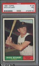 1961 Topps #126 Dick Stuart Pittsburgh Pirates PSA 7 NM