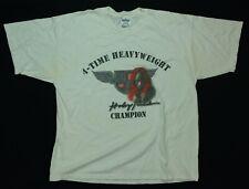 Rare Vintage Evander Holyfield 4 Time Heavyweight Champion Boxing T Shirt 90s XL