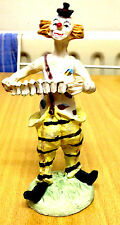 CLOWN SEEN TO BE PLAYING A CONCERTINA-SUPERB COLOUR & DETAIL-VERY GOOD CONDITION