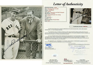 Ted Williams w/ Yawkey Signed JSA LOA Original 7X9 Photo Auto Autographed 8X10