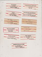 11 Elvis Presley Jukebox Title Strips Lot 2