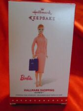 "Barbie Hallmark Keepsake Ornament 2015 "" Hallmark Shopping "" Nib"