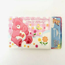 Care Bears Girl's First Birthday Invitations and Thank You Cards NIP 8 ct 2002