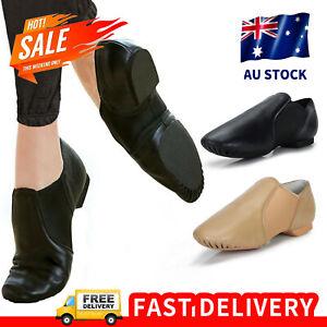 Pegasus Galaxy Child or Adult Slip On Corium Jazz Dance Shoes Black Brown