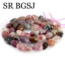 "Jewelry DIY Natural Freeform Mixed Tourmaline Gemstone Beads Strand 15""9-10mm"