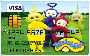 Teletubbies Novelty Plastic Credit Card