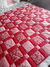 Cherry Estampado Rojo y Rosa Colcha de retazos 49 X 68