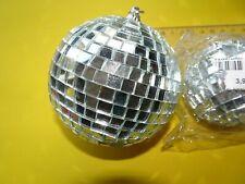 2 x Glitzer Spiegelkugel Spiegelball Spiegel Kugel Ball Discokugel 70er Jahre