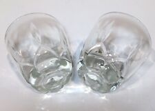 """Heavy Base Clear Drinking Glasses Lot of 2 Matching Short Tumblers 3.5"""" X 3.25"""""""