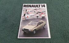 1980 RENAULT 14 TL GTL TS UK BROCHURE