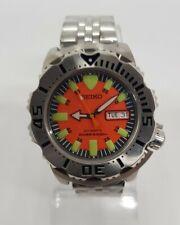 Reloj Seiko - monster -  orange. 200 m diver mecanismo modificado mejorado 7S36A