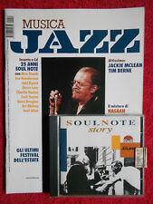 Rivista MUSICA JAZZ 11/2004 Con CD Jackie McLean Tim Berne Manfred Eicher Hasaan