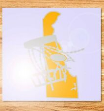 "6"" Delaware Disc Golf Vinyl Decal"