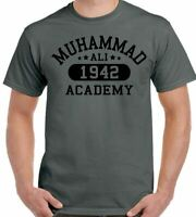 Muhammad Ali T-Shirt Academy Mens Boxing MMA Martial Arts Gym Boxer Training Top