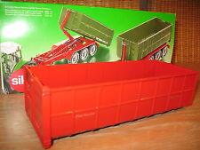 Siku 7073  Sondermodell rot  Hakenlift- Mulde 2879 aus Metall für Umbau Eigenbau